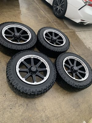 "Authentic Black Rhino Hard Alloys Rims Wheels and Tires 20"" inch for Sale in Bellevue, WA"