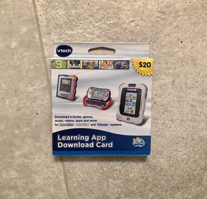 NEW VTech Learning App Download Card (works with InnoTab, MOBIGO and V.Reader) for Sale in Falls Church, VA