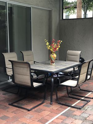 Patio Dining Table 6 Chairs for Sale in Golden Oak, FL