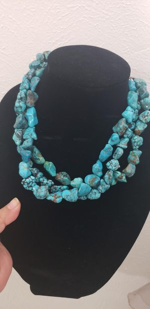 Vintage sterling silver turquoise necklace for Sale in Barstow, CA