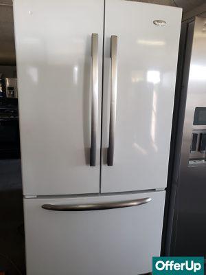 📢📢Whirlpool Refrigerator Fridge French Door 3-Door White #1109📢📢 for Sale in Chino, CA