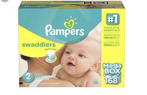 Size 2 unopened Mega Box of Pampers diapers for Sale in Dublin, OH