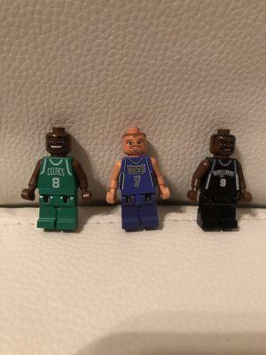 LEGO Basketball Mini figures Antoine Walker Toni Kukoc Tony Parker RARE NBA for Sale in Whittier, CA