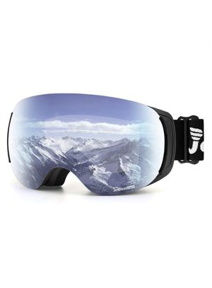 JetBlaze Ski Goggles, Magnet Interchangeable Spherical Lens Snow Goggles, UV400 Protection Snowboard Goggles, Anti-Fog Snowmobile Goggles with Anti-S for Sale in Montclair, CA