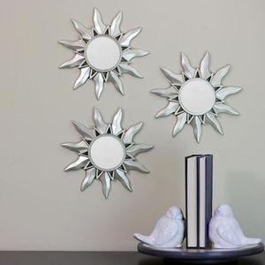 Silver Sunburst Mirror Set of 3 Wall Decor for Sale in Hemet, CA