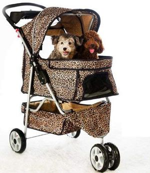 Cheetah print dog stroller for Sale in Bensenville, IL