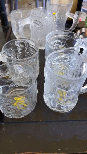 Batman Forever 1995 McDonald's 4 glass mugs collection for Sale in Pasadena, TX
