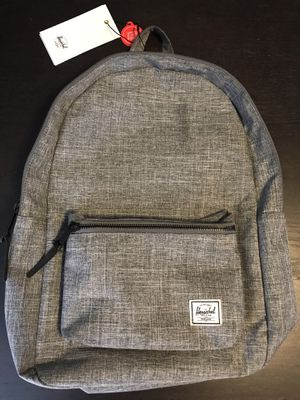 """Herschel Settlement Backpackp-Mid-Volume Raven Crosshatch New never used 16.25""""(H) x 11""""(W) x 4.5""""(D), 17L Laptop Pouch-No Offers for Sale in Long Beach, CA"""