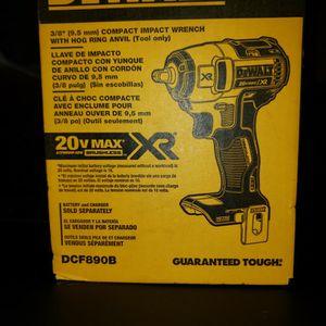 "New Dewalt 20v MAX XR DCF890B 3/8"" Impact for Sale in Los Angeles, CA"