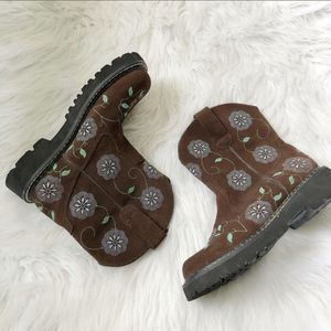 VTG- Roper Boots 8.5 Brown Floral Embroidered Sued for Sale in Delta, CO