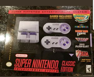 Nintendo Super NES Classic SNES Brand New with receipt for warranty for Sale in Austin, TX