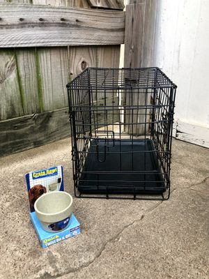 Small Dog Kennel/Crate with Bowl for Sale in Houston, TX