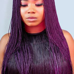 Braided Wigs With Lace Part - 18 Inches - Straight Style Is Available In Color 1B, 2, Purple for Sale in Columbia, SC