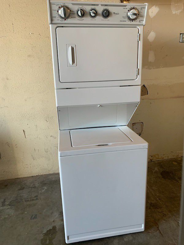 Whirlpool stackable washer and GAS dryer works great fully functional very clean
