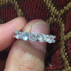 2.68ct topaz Gold Plated ring band wedding engagement ring size 7 for Sale in Silver Spring, MD