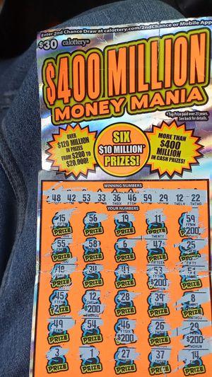 California super Lotto $30 ticket $1,000 winner for Sale in West Sacramento, CA