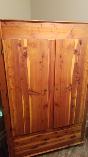Antique Bedroom Cedar Closet Wardrobe Armoire Vintage Furniture for Sale in Austin, TX