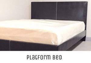 Full black platform bed with mattress and free delivery for Sale in Austin, TX