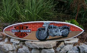 Harley Davidson Airbrushed Surfboard for Sale in Roseville, CA