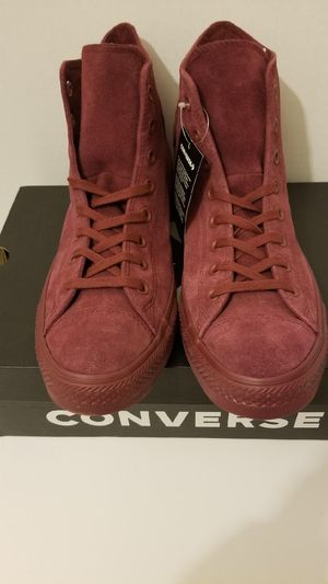 Burgundy Suede Converse sizes 9 or 11 for Sale in Queens, NY