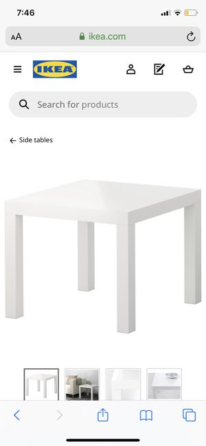Brand new White IKEA Side Table for Sale in Austin, TX