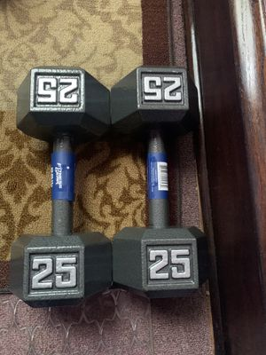 NEW HEX DUMBELL SET 25s for Sale in Chicago, IL
