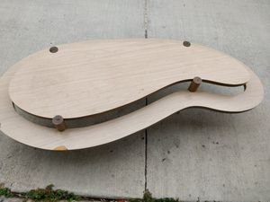 Mid Century Kidney Bean shaped two tier coffee table for Sale in San Diego, CA