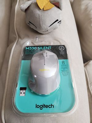 Logitech M330 Silent Plus Wireless Mouse Silver Yellow Brand New Sealed for Sale in Los Angeles, CA