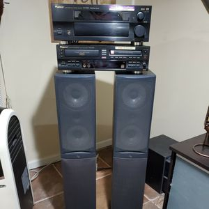 Pioneer Stereo Receiver, Cd Player Which Allows You To Record Music Off Of 3 Cds On To One. The Speakers Are Infinity 200 Watts. for Sale in Newark, NJ
