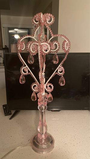 Pink chandelier lamp for Sale in Santa Ana, CA