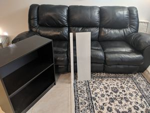 Sofa, small bookshelf, glass shelf, floor lamp for Sale in Newark, CA