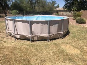 """16ft x 48"""" Nearly new above ground pool for Sale in Queen Creek, AZ"""
