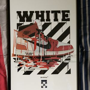 Off-white Nike Air Jordan Print And Poster In Glass Frame for Sale in West Covina, CA