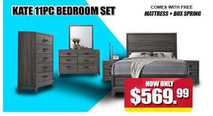 Kate 11 PC Bedroom Set for Sale in Hyattsville, MD