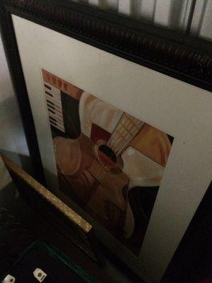 XL framed guitar art for Sale in Nashville, TN