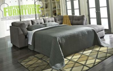 2 Piece Sectional with Sofa Sleeper Bed for Sale in Fairborn,  OH