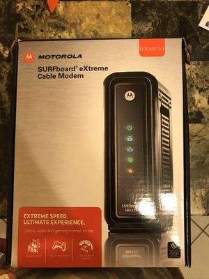 Motorola cable modem for Sale in Darien, IL