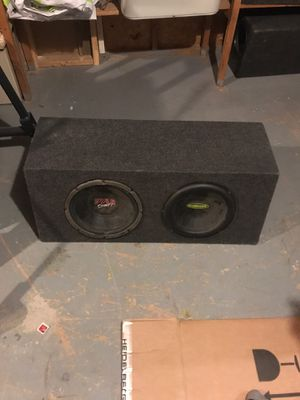Subwoofer Box for 12s (ONLY BOX) for Sale in Columbus, OH