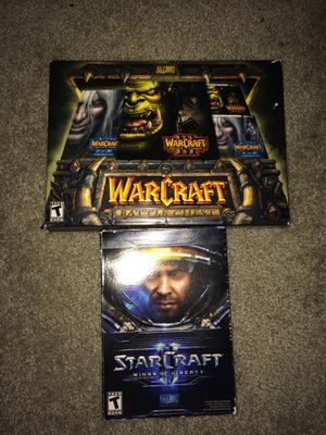Warcraft 3 Battle Chest & Starcraft 2 PC Games Complete Boxes - All Working Discs - Working CD Keys - Game Manuals & Guides Included for Sale in Portola Hills, CA