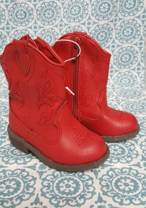 Cat & Jack Red Arizona Side Zip Cowboy Boots Toddler Girl's Size 4 for Sale in Orlando, FL