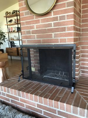 Fireplace screen cover black, self standing for Sale in Seattle, WA