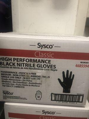 Black nitrile medium gloves for Sale in Miami, FL