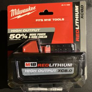 Milwaukee Red Lithium Ion 8.0 Battery New for Sale in Carson, CA