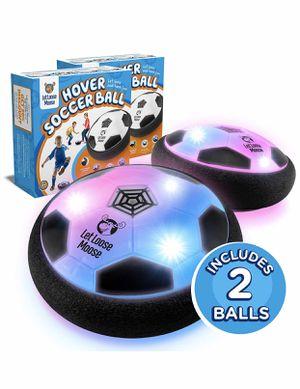 Indoor safe let loose soccer hover ball Setof 2 soccer balls LED Lights best kids toy ages 2-16 boys and girls for Sale in Los Angeles, CA