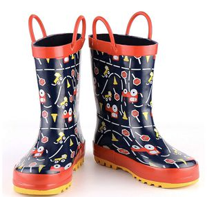 Kids Girl Boy Rain Boots, Waterproof Rubber Printed with Handles for Sale in Piscataway, NJ