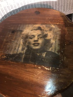 Hand made vintage Marilyn Monroe side table for Sale in Oakley, CA