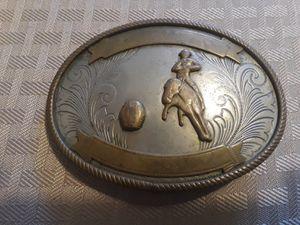 Vintage German Silver Rodeo Trophy Belt Buckle 1970's for Sale in Houston, TX