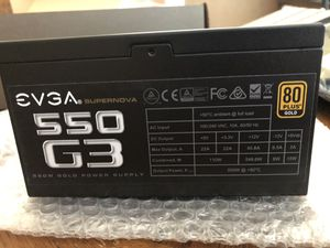 EVGA 550W G3 80 Plus Gold Modular Power Supply for Sale in Roseville, CA