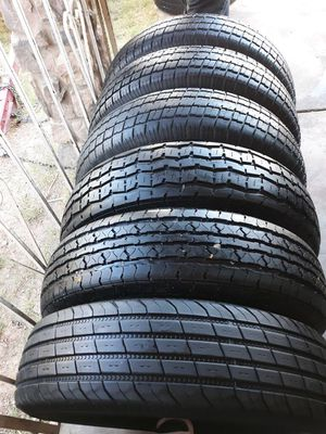 235 80 16 good set of 6 tires for trailer have 80%tread left for Sale in Phoenix, AZ