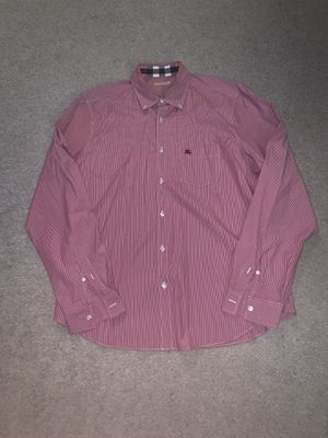 Burberry Brit men's XL red striped shirt for Sale in Portland, OR
